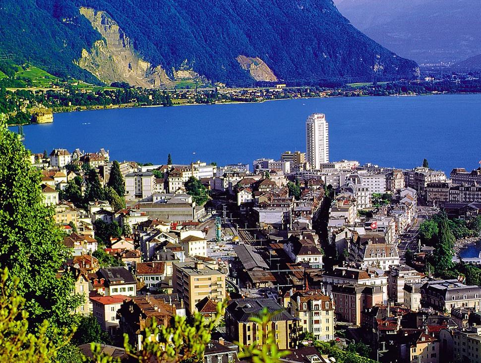 Монтрё (Montreux), Швейцарская Ривьера, Швейцария ...
