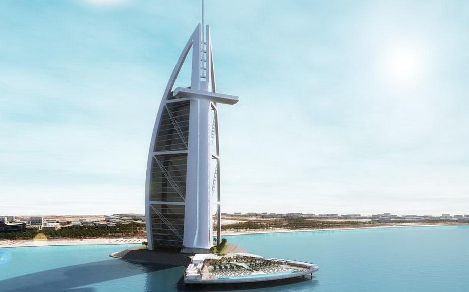 Остров-пляж для гостей Burj Al Arab